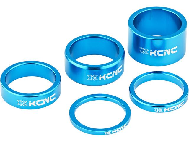 """KCNC Headset Spacer - 1 1/8"""" 3/5/10/14/20mm bleu"""